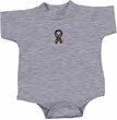 Autism Ribbon Small Print Baby Romper