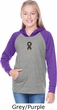 Autism Ribbon Small Print Girls Long Sleeve Hoodie