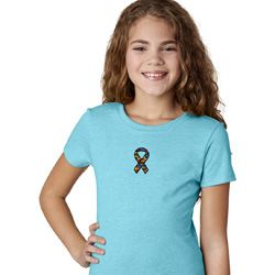 Autism Ribbon Small Print Girls T-shirt