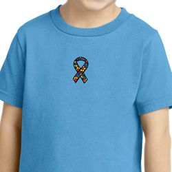 Autism Ribbon Small Print Toddler T-shirt