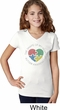 Autism Shape of My Heart Girls V-neck