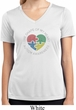 Autism Shape of My Heart Ladies Dry Wicking V-neck