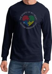 Autism Shape of My Heart Long Sleeve