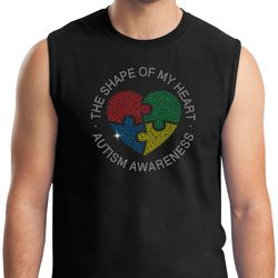 Autism Shape of My Heart Muscle Shirt