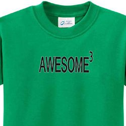 Awesome Cubed Kids Shirts