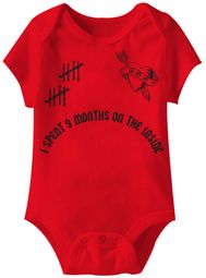 Baby Funny Romper 9 Months Infant Red Babies Creeper