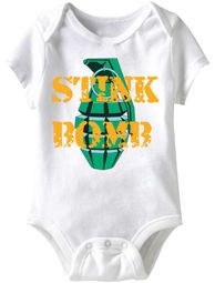 Baby Funny Romper Bomber Infant White Babies Creeper