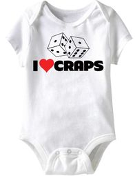 Baby Funny Romper Da Craps Infant White Babies Creeper