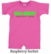 Baby Funny Romper Shirt Doody Calls Infant Green Logo Creeper Tee