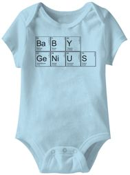 Baby Genius Funny Baby Romper Light Blue Infant Babies Creeper