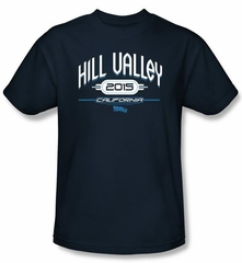 Back To The Future II Kids T-shirt Hill Valley 2015 Navy Shirt Youth