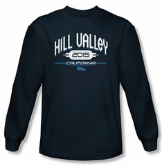 Back To The Future II Long Sleeve T-shirt Hill Valley 2015 Navy Shirt
