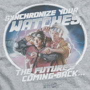 Back To The Future II Synchronize Watches Ringer Shirts