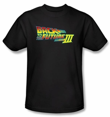 Back To The Future III Kids T-shirt Movie Logo Black Shirt Tee Youth