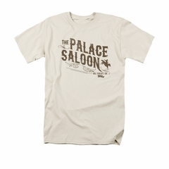 Back To The Future III Shirt Palace Saloon Adult Cream Tee T-Shirt