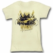 Back To The Future Juniors Shirt Glamour Light Yellow Tee T-Shirt