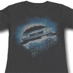 Back To The Future Juniors Shirt Outatime Charcoal Tee T-Shirt