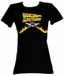 Back To The Future Juniors T-Shirt BTF Car Black Tee Shirt