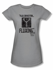 Back To The Future Juniors T-shirt Movie Fluxing Silver Tee Shirt
