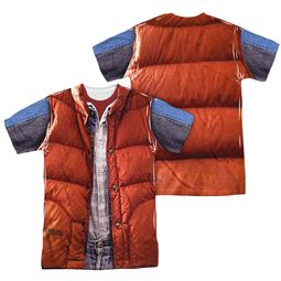 Back To The Future Mcfly Vest Sublimation Shirt Front/Back Print
