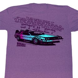 Back To The Future Shirt A Little Style Adult Heather Purple T-Shirt