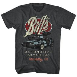 Back To The Future Shirt Biff's Automotive Detailing Charcoal T-Shirt