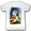 Back To The Future Shirt BTF Poster Adult White Tee T-Shirt