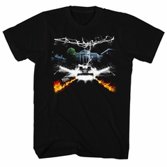 Back To The Future Shirt Collage Black T-Shirt