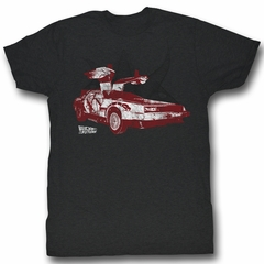 Back To The Future Shirt Doorrrs Adult Black Tee T-Shirt