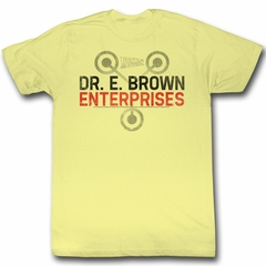 Back To The Future Shirt Dr E Brown Enterprises Yellow T-Shirt