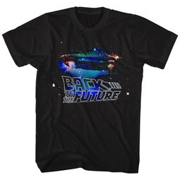 Back To The Future Shirt Galaxy Black T-Shirt