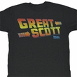 Back To The Future Shirt Great Scott Adult Black Tee T-Shirt