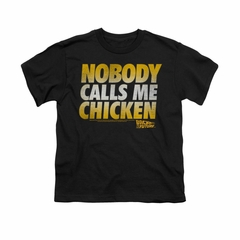 Back To The Future Shirt Kids Chicken Black Youth Tee T-Shirt