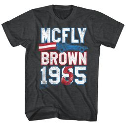Back To The Future Shirt McFly Brown For Prez Charcoal T-Shirt