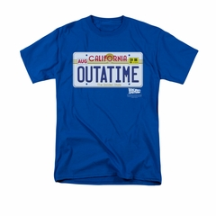 Back To The Future Shirt Outatime Adult Royal Blue Tee T-Shirt