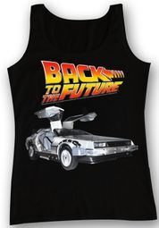 Back To The Future Shirt Tank Top DeLorean Black Tanktop