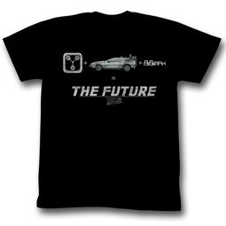 Back To The Future Shirt The Future Adult Black Tee T-Shirt