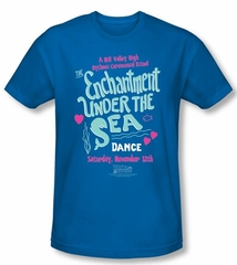 Back To The Future Slim Fit T-shirt Under The Sea Adult Royal Shirt