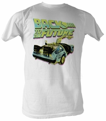 Back To The Future T-Shirt - BTF Neon White Adult Tee Shirt