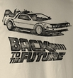 Back To The Future T-Shirt – DMC Ink Dirty White Adult Tee Shirt