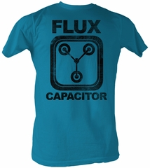 Back To The Future T-Shirt Flux Capacitor Adult Turquoise Tee Shirt