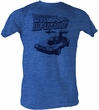 Back To The Future T-Shirt – Halftone Sea Blue Heather Adult Tee Shirt