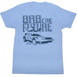 Back To The Future T-shirt Movie BRB2 Adult Blue Shirt Tee