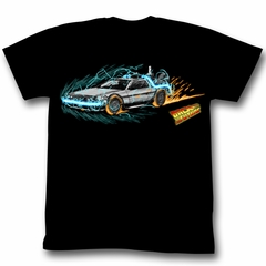 Back To The Future T-Shirt - Time Painting Black Adult Tee Shirt