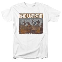 "Bad Company ""Swan Song"" Classic Rock White T-shirt"