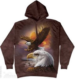 Bald Eagle Hoodie Tie Dye Adult Hooded Sweat Shirt Hoody