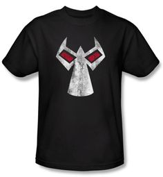 Bane DC Comics T-Shirt Batman Series Mask Adult Black Tee Shirt
