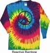 Basic Black Peace Long Sleeve Tie Dye Shirt