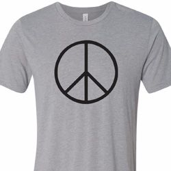Basic Black Peace Mens Tri Blend Crewneck Shirt