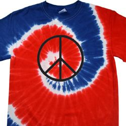 Basic Black Peace Patriotic Tie Dye Shirt